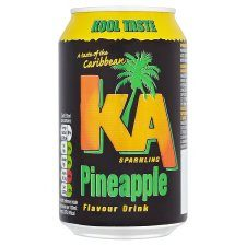 Grocemania Grocery Delivery London| K.A. Sparkling Pineapple Soda Can 330ml