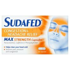 Sudafed Congestion and Headache Relief - Grocemania