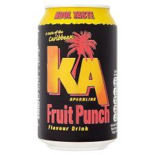 Grocemania Grocery Delivery London| K.A. Sparkling Fruit Punch Can 330ml