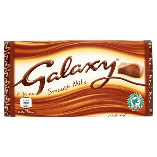 Grocery Delivery London - Galaxy Smooth Milk 135g same day delivery