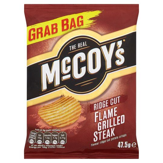 Grocery Delivery London - Mccoys Flame Grilled Steak Crisps 47.5g same day delivery
