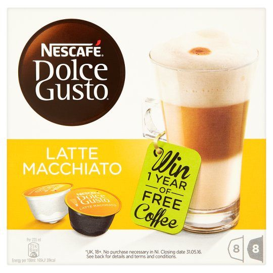 Grocemania Grocery Delivery London| Nescafe Dolce gusto latte coffee Pod 8 serving 194.4g