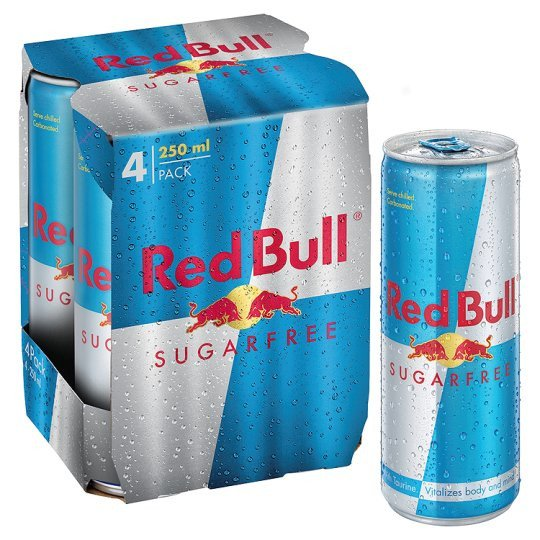 Grocery Delivery London - Red Bull Sugar free Energy 4X250ml same day delivery