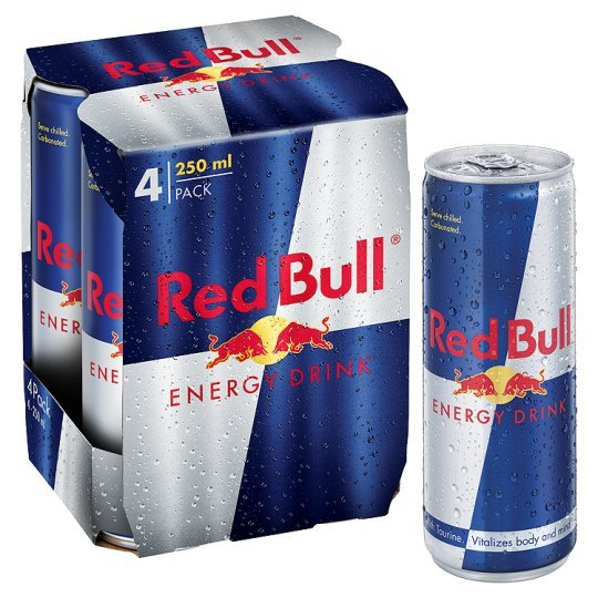 Grocemania | Red Bull Energy Drinks 4X250ML | Online Grocery Delivery