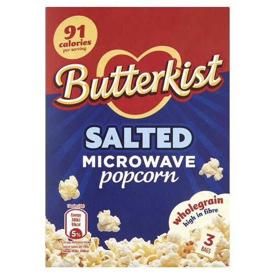 Grocery Delivery London - Butterkist Salted Microwave Popcorn 3X70g same day delivery