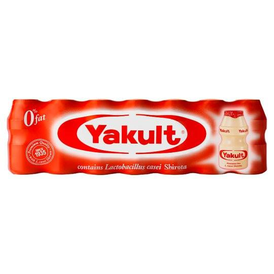 Grocery Delivery London - Yakult Fermented milk drink 7X65ml same day delivery
