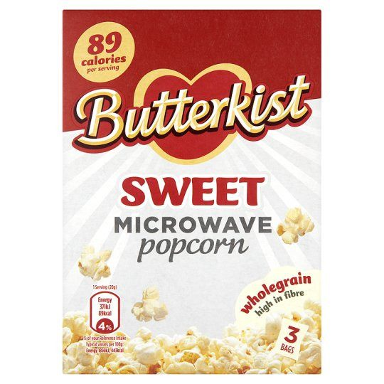 Grocemania Grocery Delivery London| Butterkist Sweet Microwave Popcorn 3X70g