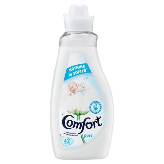Grocery Delivery London - Comfort Pure Fabric Conditioner 42 Wash 1.5L same day delivery