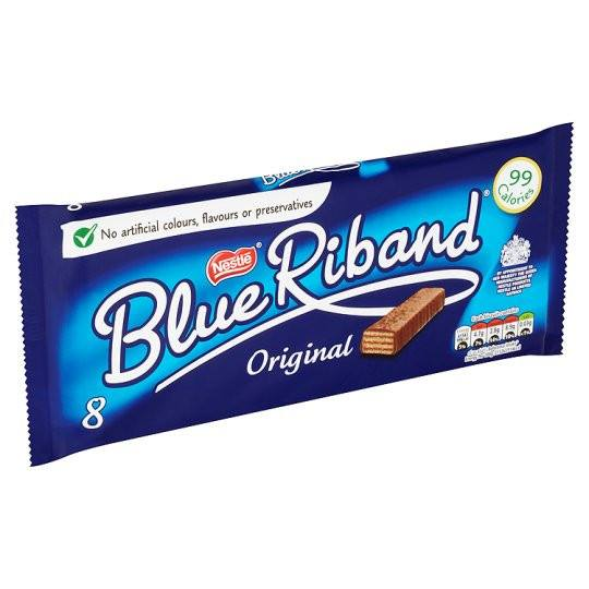 Grocemania Grocery Delivery London| Nestle Blue Riband Biscuit 8X Pack 154.4g