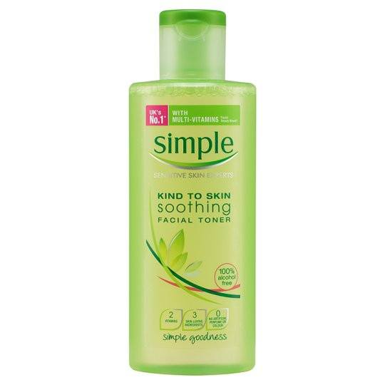 Grocery Delivery London - Simple Kind To Skin Soothing Facial Toner 200ml same day delivery