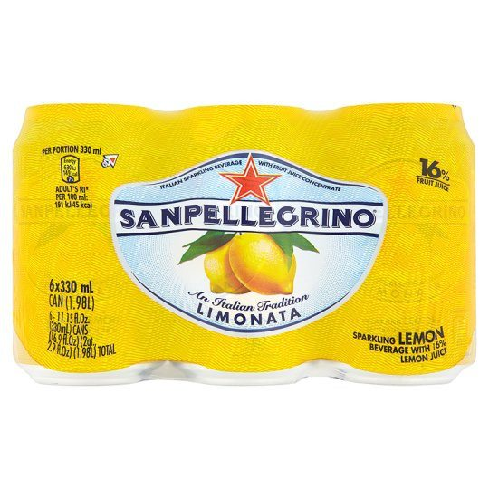 Grocery Delivery London - San Pellegrino Sparkling Limonata 6X330ml same day delivery