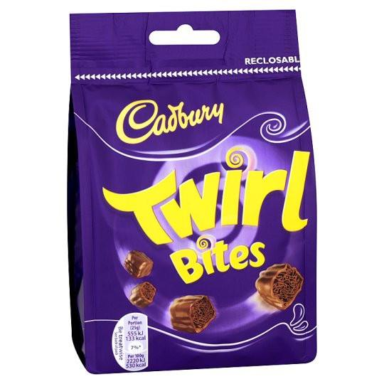 Grocemania Grocery Delivery London| Cadbury Twirl Bites 109g