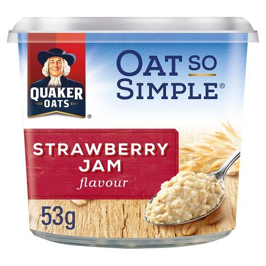 Grocemania Grocery Delivery London| Quaker Oat So Simple Strawberry Jam Porridge Pot 53g