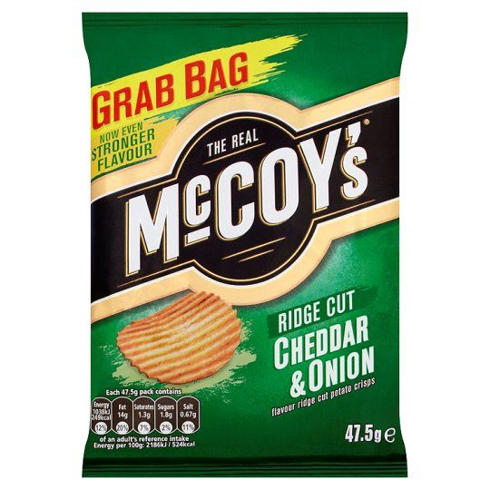 Grocemania Grocery Delivery London| Mccoys Cheddar And Onion Crisps 47.5g