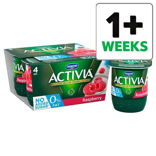 Grocemania Grocery Delivery London| Activia 0% Fat Raspberry Yogurt 4 X125g