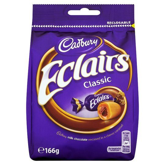 Grocemania | Cadbury Chocolate Eclairs 166g | Online Grocery Delivery London