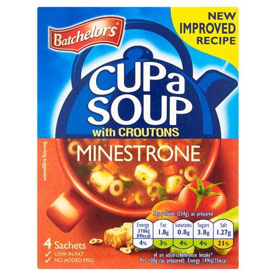 Grocemania Grocery Delivery London| Batchelors Cup A Soup Minestrone 4 Pack 94g