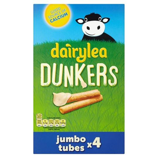 Grocemania Grocery Delivery London| Dairylea Dunkers Jumbo Tubes 4x47g