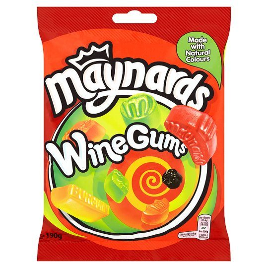 Grocery Delivery London - Maynards Wine Gums 190g same day delivery
