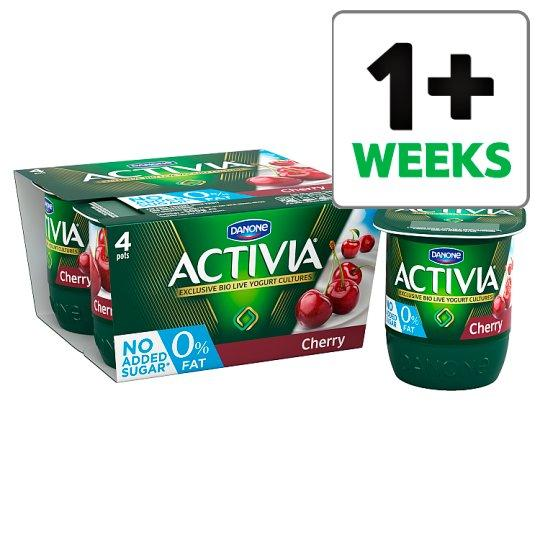 Grocemania Grocery Delivery London| Activia 0% Fat Cherry Yogurt 4 X125g