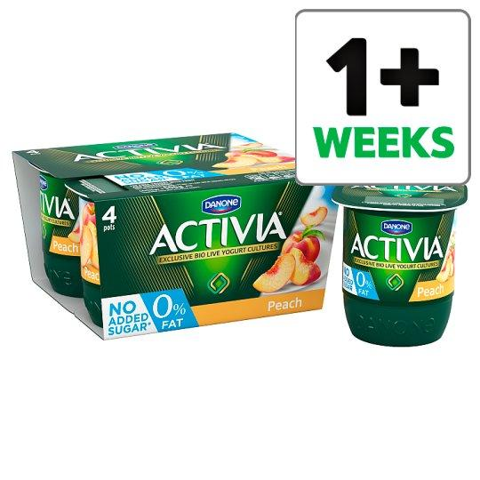 Grocemania Grocery Delivery London| Activia 0% Fat Peach Yogurt 4 X125g