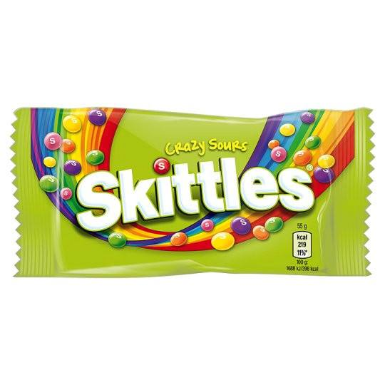 Grocemania Grocery Delivery London| Skittles Crazy Sours 55g