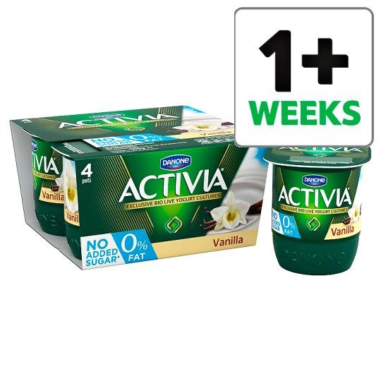 Grocemania Grocery Delivery London| Activia 0% Fat Vanilla Yogurt 4 X125g