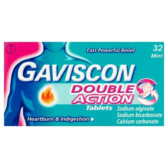 Grocemania Grocery Delivery London| Gaviscon Double Action Heartburn Tablets X 32