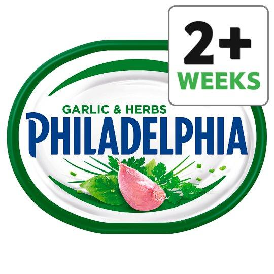 Grocemania Grocery Delivery London| Philadelphia Light Soft Cheese With Garlic And Herb 170g
