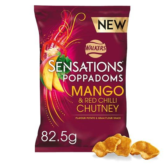 Grocemania Grocery Delivery London| Sensations Mango And Chilli Chutney Poppadoms 82.5g