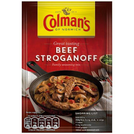 Grocemania Grocery Delivery London| Colman's Beef Stroganoff Recipe Mix 39g