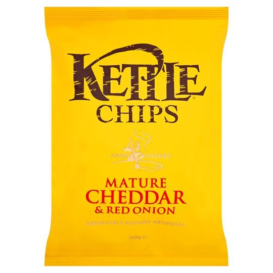 Grocemania Grocery Delivery London| Kettle Mature Cheddar & Onion 150g