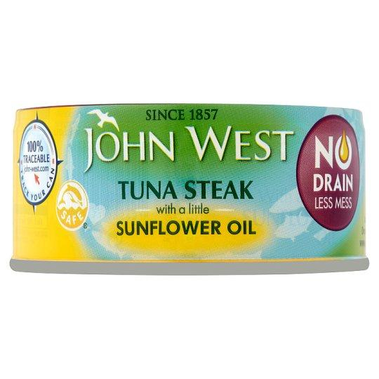 Grocery Delivery London - John West No Drain Tuna Steak 110g Sunflower Oil same day delivery