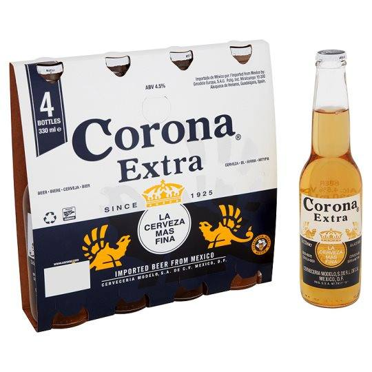 Grocemania Grocery Delivery London| Corona Extra 4x330ml