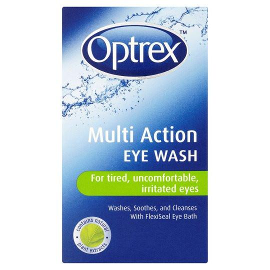 Grocemania Grocery Delivery London| Optrex Multi Action Eye Wash 100ml