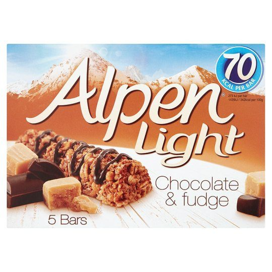 Grocery Delivery London - Alpen Light Chocolate And Fudge Bar 5X21g same day delivery