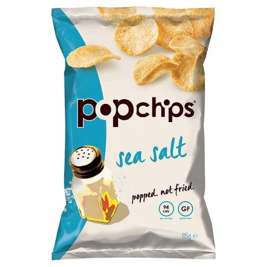 Grocery Delivery London - Popchips Sea Salt Popped Popato Chips 85g same day delivery