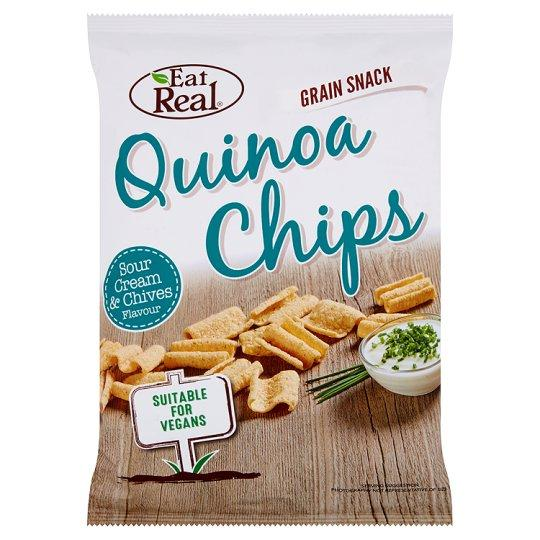 Grocemania Grocery Delivery London| Eat Real Quinoa Chips Sour Cream And Chive 80g