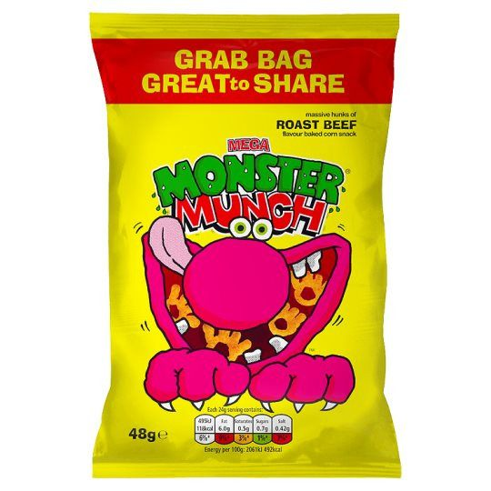 Grocemania Grocery Delivery London| Walkers Monster Munch Roast Beef 48g