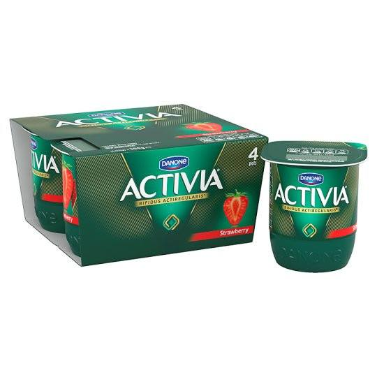 Grocemania Grocery Delivery London| Danone Activia Strawberry Yogurt 4X125g