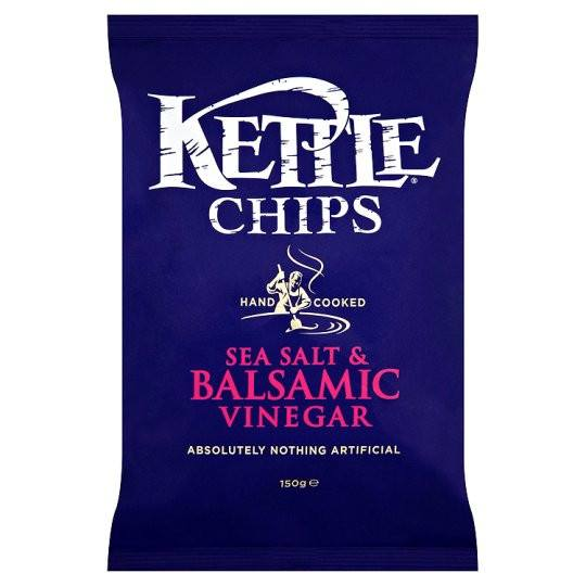 Grocery Delivery London - Kettle Sea Salt And Balsamic Vinegar 150g same day delivery
