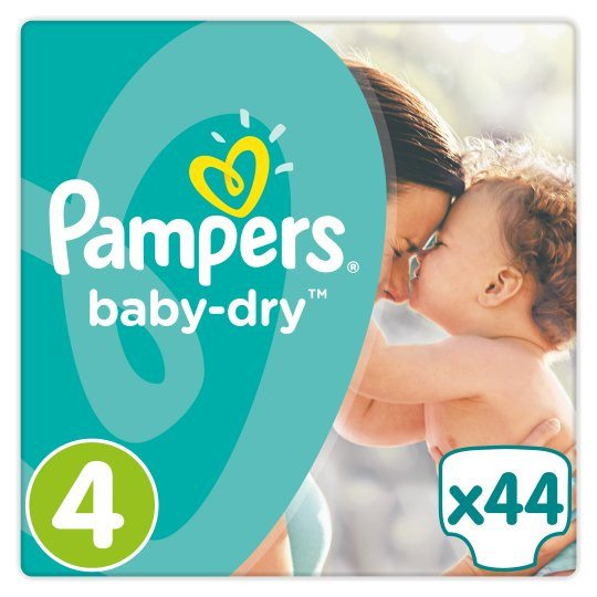 Grocemania | Pampers Baby Dry Size 4 Essential Pack 44 Nappies | Online Grocery Delivery