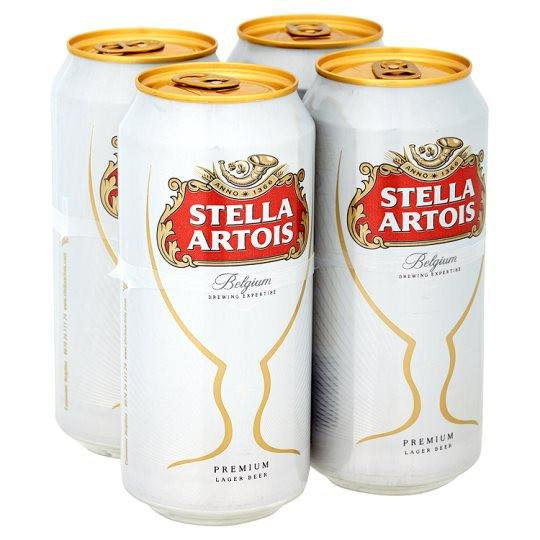 Grocery Delivery London - Stella Artois 4x440ml same day delivery