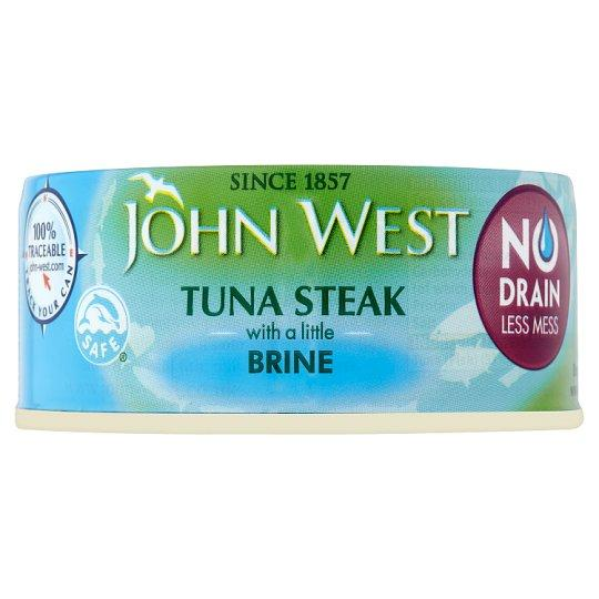 Grocery Delivery London - John West No Drain Tuna Steak 110g Brine same day delivery