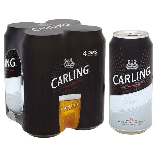 Grocemania Grocery Delivery London| Carling lager 4x440ml