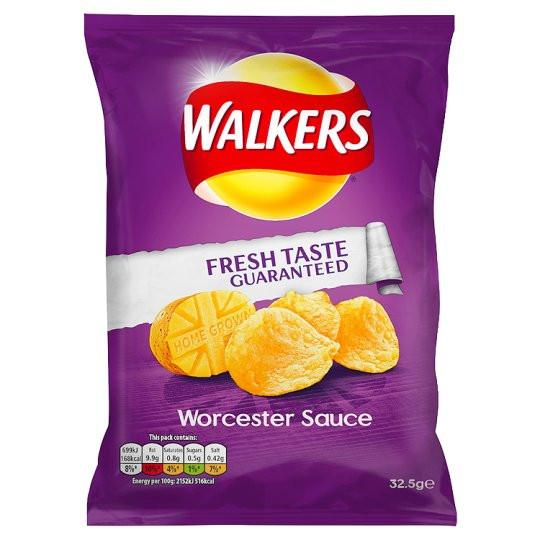 Grocery Delivery London - Walkers Worcester Sauce Crisps 32.5g same day delivery