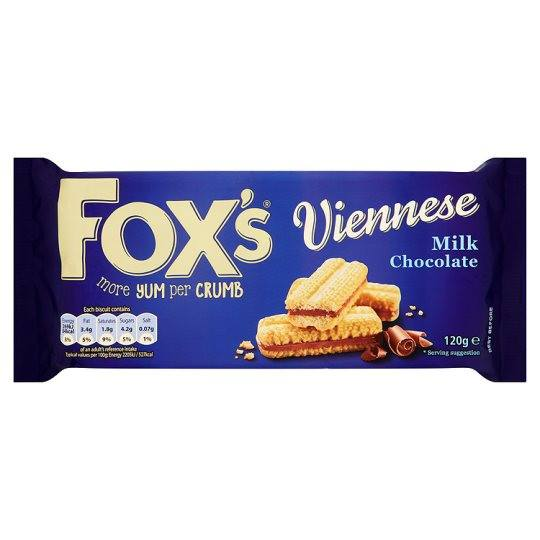 Grocery Delivery London - Fox's Chocolate Viennese Biscuits 120g same day delivery