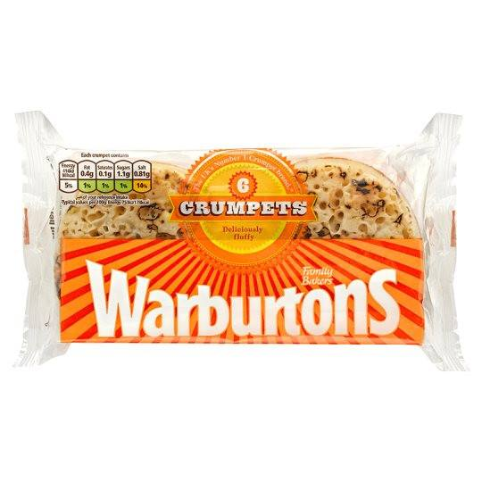 Grocery Delivery London - Warburtons Crumpets x6 same day delivery