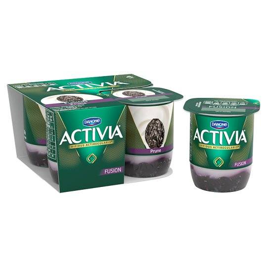 Grocemania Grocery Delivery London| Danone Activia Fusions Prune Yoghurt 4X125g