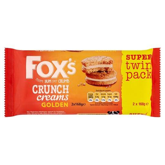 Grocery Delivery London - Fox's Golden Crunch Cream Biscuits 336g same day delivery
